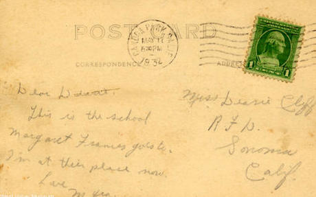 Back of Postcard of Owensmouth Grammar School (Postmark May 10, 1932)..jpg