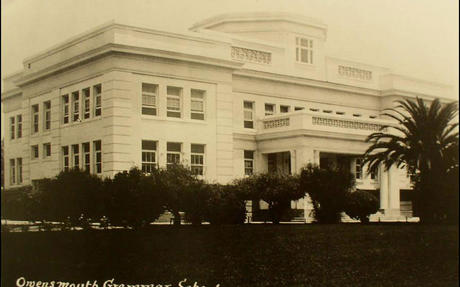 Front of Postcard of Owensmouth Grammar School..jpg